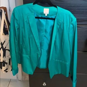 Emerald green blazer